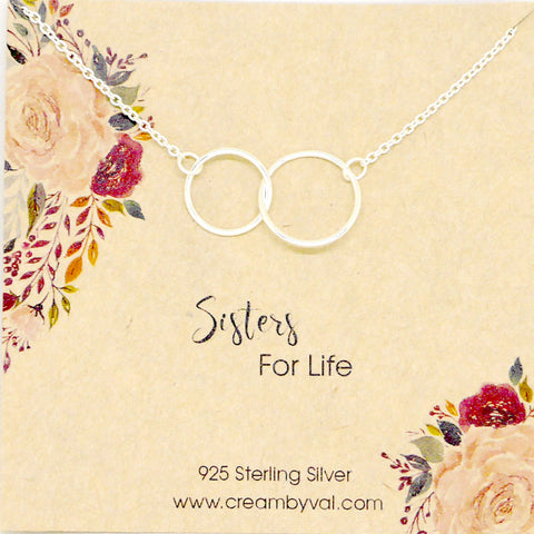 sisters for life necklace gift