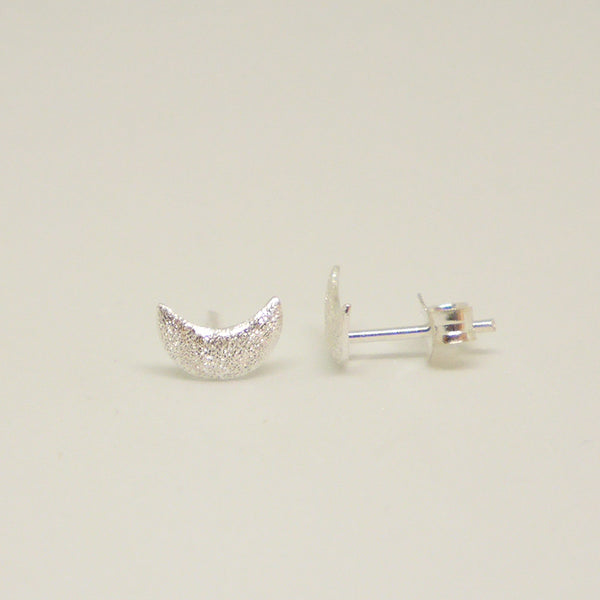 Sterling Moon Studs
