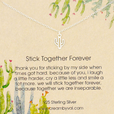stick together forever necklace