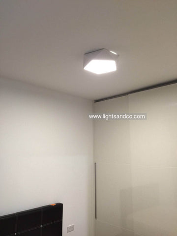 Lighting Singapore - LEXA Geometric LED Ceiling Light for Master Bedroom
