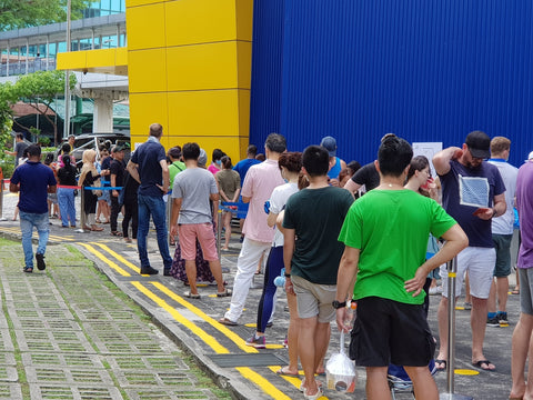Long queues at IKEA