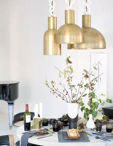 Lighting Singapore - Brass Gold Hanging Lights