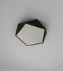 LEXA Geometric LED Ceiling Light in Black (42cm) with Safety Mark LED Driver