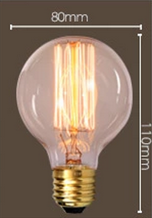 Dimensions of GOTHAM Edison Light Bulb