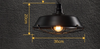 ALIGATOR Grille Pendant Lamp in Black