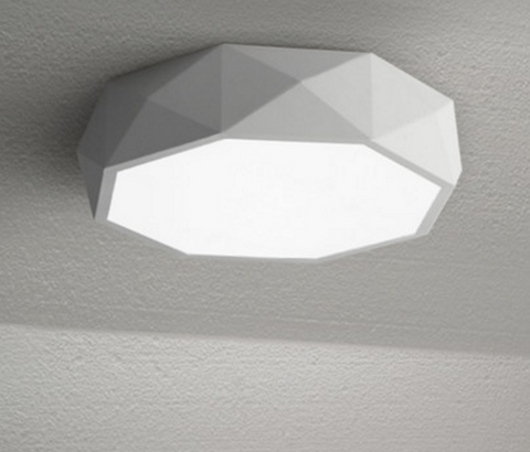 TEVA Octagon Jewel LED Ceiling Lamp in White with Safety Mark LED Driver (Pre-order)