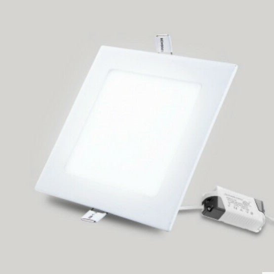 Led 12w square flatpanel recessed downlights lightsco 12w led square flatpanel recessed down lights aloadofball Images