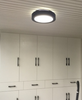 TRAVIS LED Ceiling Light in Black with Safety Mark LED Driver