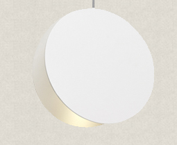 CRIMSON Circular Pendant Light in White