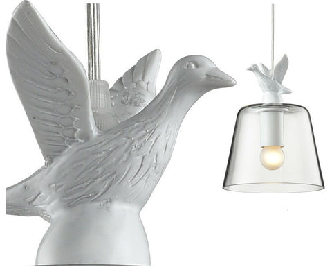 BAY DUCK on Glass Pendant Light