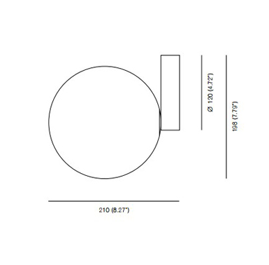 Eliza minimalist wall lamp measurements