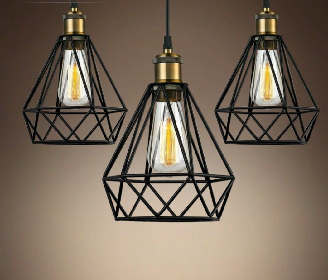 contemporary image pendant and in black copper geometric ceiling midi