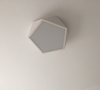 LEXA Geometric LED Ceiling Light in White (42cm) with Safety Mark LED Driver
