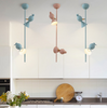 FLYCATCHER Perched Bird On Stand Hanging Lamp in Pastel Colours (Pre-order)