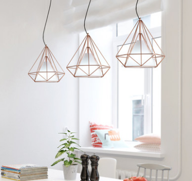 GIXY Geometric Pendant Light in Rose Gold (Pre-order)