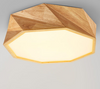 LUCENT Octagon Jewel LED Ceiling Lamp in Wood (Pre-order)