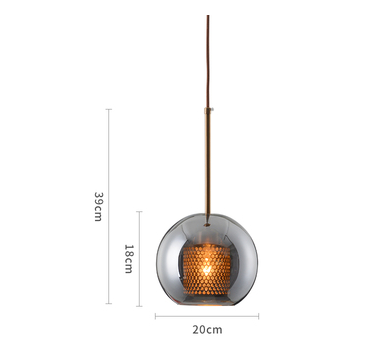 INCEPCION Glass Pendant Light in Grey (Pre-order)