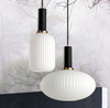 VACARIUS Glass Pendant Light in White (Pre-order)