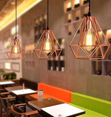 LEIKA Geometric Pendant Lamp in Rose Gold