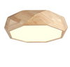 TEVA Octagon Jewel LED Ceiling Lamp in Wood with Safety Mark LED Driver (Pre-order)