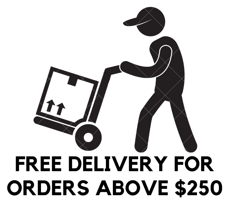 Free delivery for orders above $250