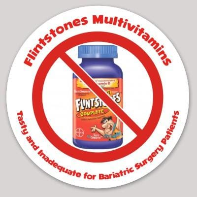 Flintstones Multivitamins: Tasty and Inadequate for Bariatric Surgery Patients