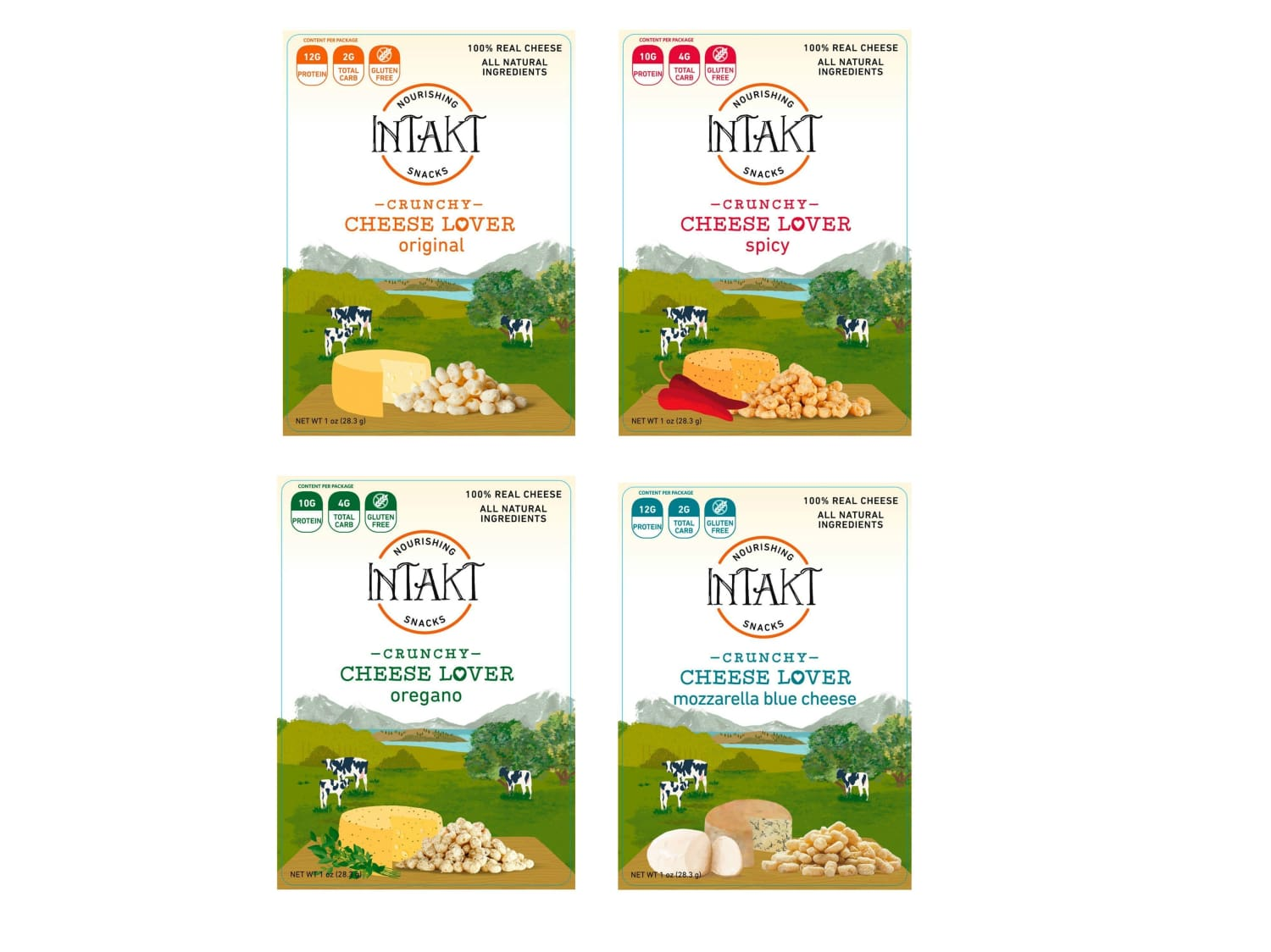 Intakt Cheese Snacks for an Intact Diet