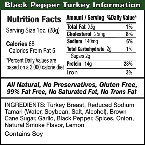 Healthy Jerky Co. Turkey Jerky - Black Pepper