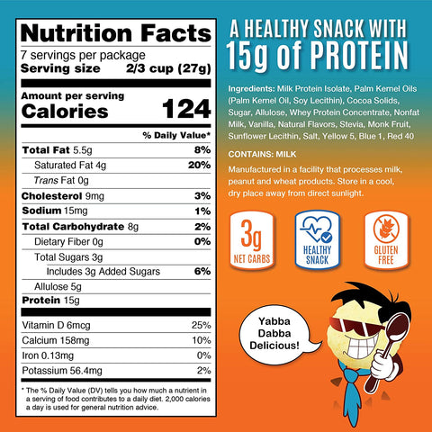 Snack House Keto Cereal - Fruity Rubbles Nutrition Facts
