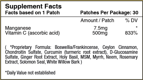 Glucosamine and Chondroitin Topical Plus Vitamin Patch by PatchAid