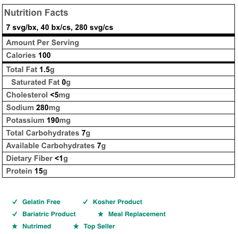 BariatricPal 15g Protein Shake or Pudding - Chocolate Cream