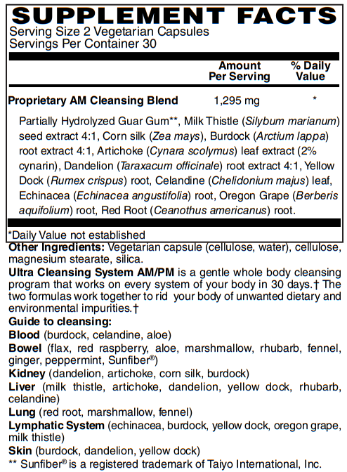 BariatricPal Ultra Cleansing System AM/PM Vegetarian Capsules - 30-Day Kit
