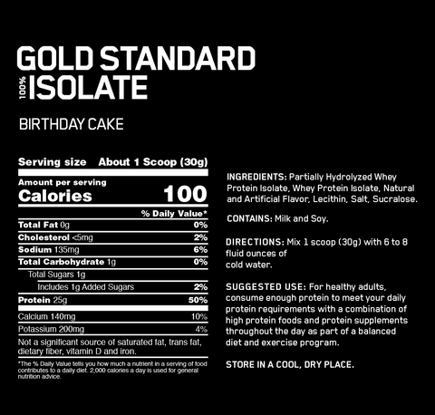 Optimum Nutrition Gold Standard 100 Whey Protein Isolate