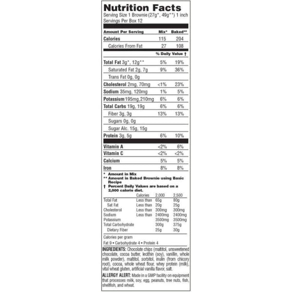 CarbRite Diet - Sugar-Free Brownie Mix with Chocolate Chips