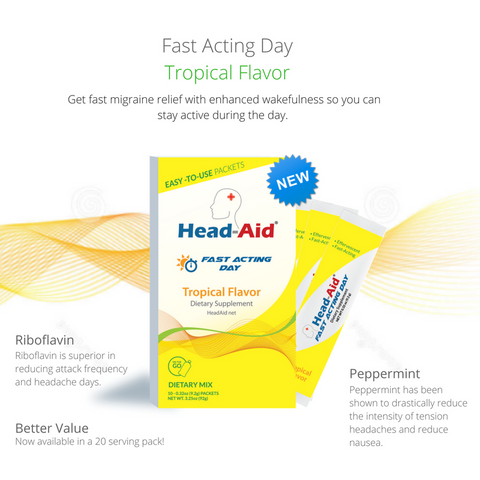"Head-Aid ""Fast Acting Day"" (Abortive) - Tropical"