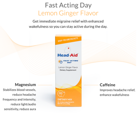 "Head-Aid ""Fast Acting Day"" - Lemon Ginger"
