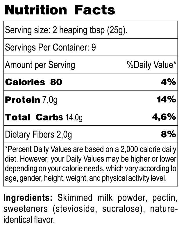 Newa Nutrition Low-Carb Sugar-Free Sweet Condensed Milk Protein Mix