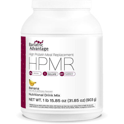 Bariatric Advantage HPMR High Protein Meal Replacement - Available in 8 Flavors! - 21 servings / Banana - Meal Replacements