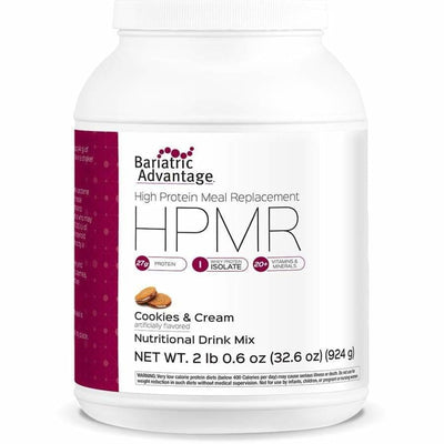 Bariatric Advantage HPMR High Protein Meal Replacement - Available in 8 Flavors! - 21 servings / Cookies and Cream - Meal Replacements