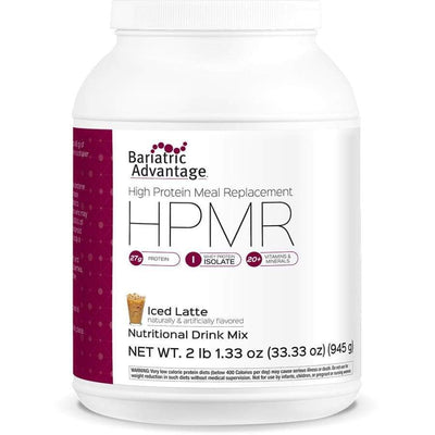 Bariatric Advantage HPMR High Protein Meal Replacement - Available in 8 Flavors! - 21 servings / Iced Latte - Meal Replacements
