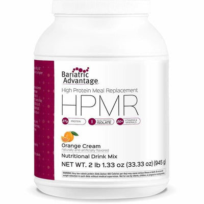 Bariatric Advantage HPMR High Protein Meal Replacement - Available in 8 Flavors! - 21 servings / Orange Cream - Meal Replacements