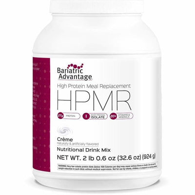 Bariatric Advantage HPMR High Protein Meal Replacement - Available in 8 Flavors! - 21 servings / Unflavored Crème - Meal Replacements