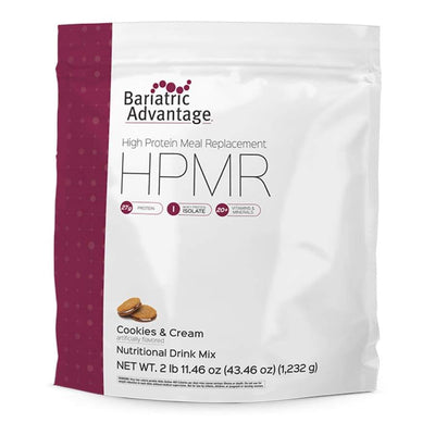 Bariatric Advantage HPMR High Protein Meal Replacement - Available in 8 Flavors! - 28 servings / Cookies and Cream - Meal Replacements