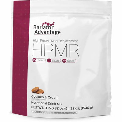 Bariatric Advantage HPMR High Protein Meal Replacement - Available in 8 Flavors! - 35 servings / Cookies and Cream - Meal Replacements