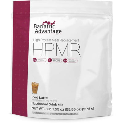 Bariatric Advantage HPMR High Protein Meal Replacement - Available in 8 Flavors! - 35 servings / Iced Latte - Meal Replacements