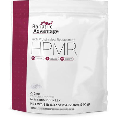 Bariatric Advantage HPMR High Protein Meal Replacement - Available in 8 Flavors! - 35 servings / Unflavored Crème - Meal Replacements