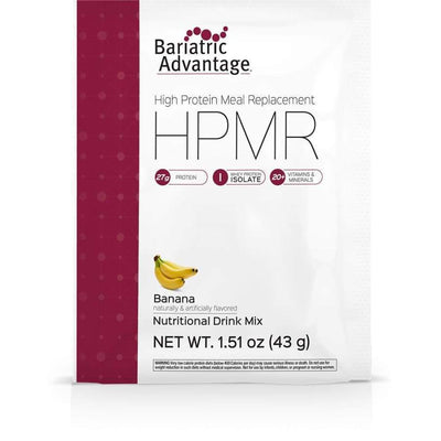 Bariatric Advantage HPMR High Protein Meal Replacement - Available in 8 Flavors! - Single Serve Packet / Banana - Meal Replacements