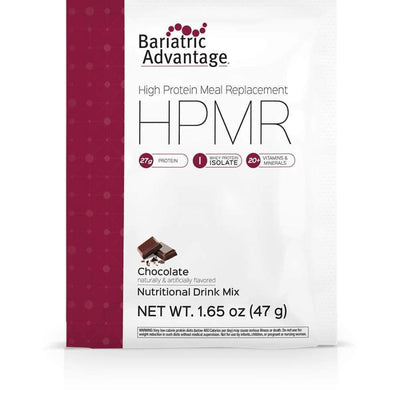 Bariatric Advantage HPMR High Protein Meal Replacement - Available in 8 Flavors! - Single Serve Packet / Chocolate - Meal Replacements