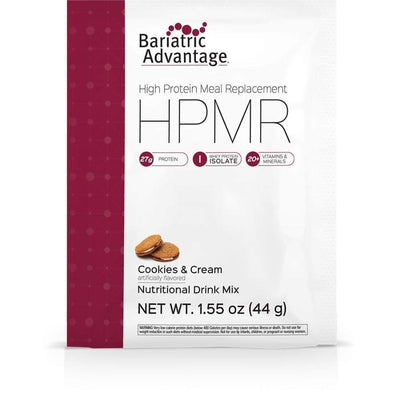 Bariatric Advantage HPMR High Protein Meal Replacement - Available in 8 Flavors! - Single Serve Packet / Cookies & Cream - Meal Replacements