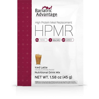 Bariatric Advantage HPMR High Protein Meal Replacement - Available in 8 Flavors! - Single Serve Packet / Iced Latte - Meal Replacements
